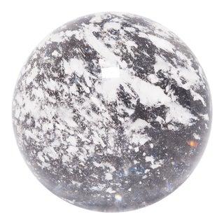 Rock Crystal Sphere Sculpture For Sale