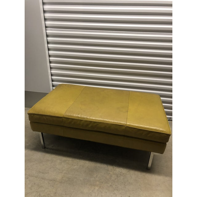 Early 21st Century Vintage Design Within Reach Leather Ottoman For Sale In Philadelphia - Image 6 of 6