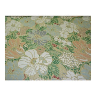 Vintage Floral Sunbrella Indoor/Outdoor Upholstery Fabric- 4 Yards For Sale