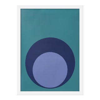 "Small ""Double Dot in Blues"" Print by Stephanie Henderson, 15"" X 20"""