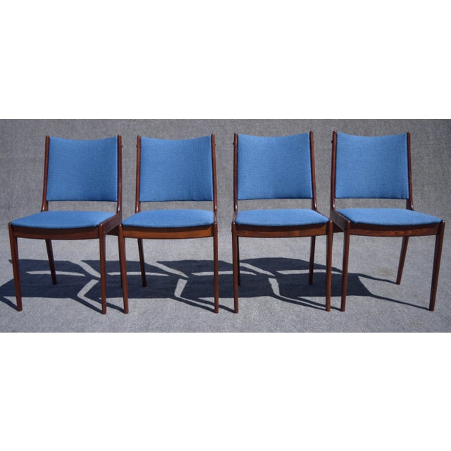 Johannes Andersen Danish Modern Rosewood Dining Chairs - Set of 6 - Image 5 of 9