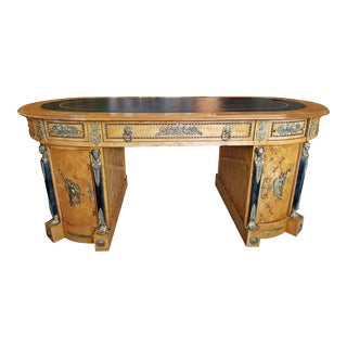 Early 20c French Neo Classical Revival Style Partners Desk For Sale