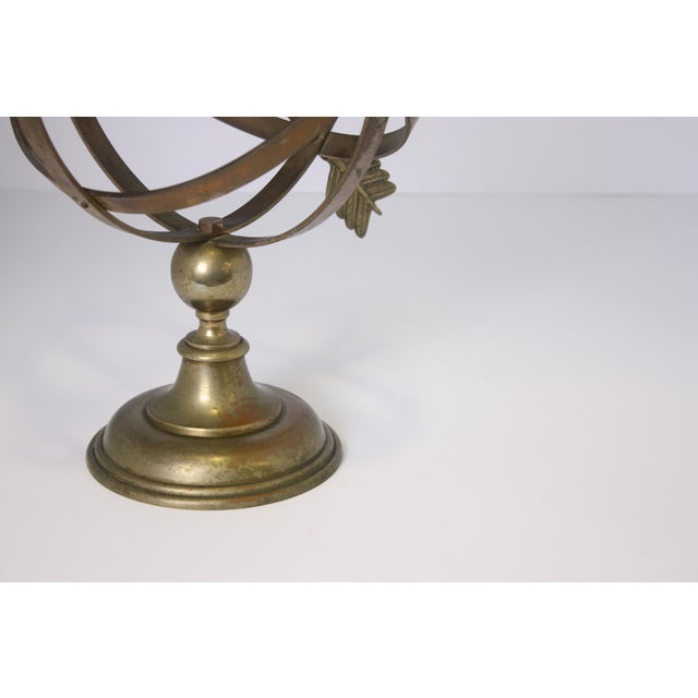 1960s Industrial Solid Brass Armillary Sphere For Sale In West Palm - Image 6 of 7