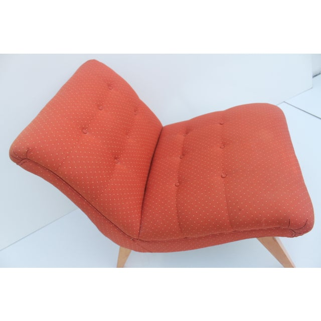 Jens Risom for Knoll Red Slipper Chair For Sale - Image 11 of 11