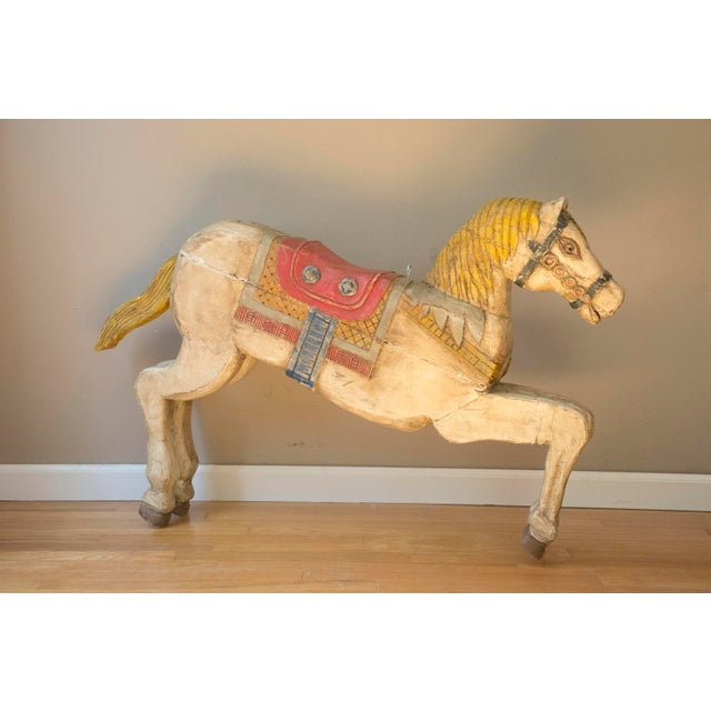 Antique Wooden Polychrome Carousel Horse - Image 3 of 8
