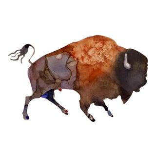 """Watercolor Buffalo"" Giclee Print For Sale"