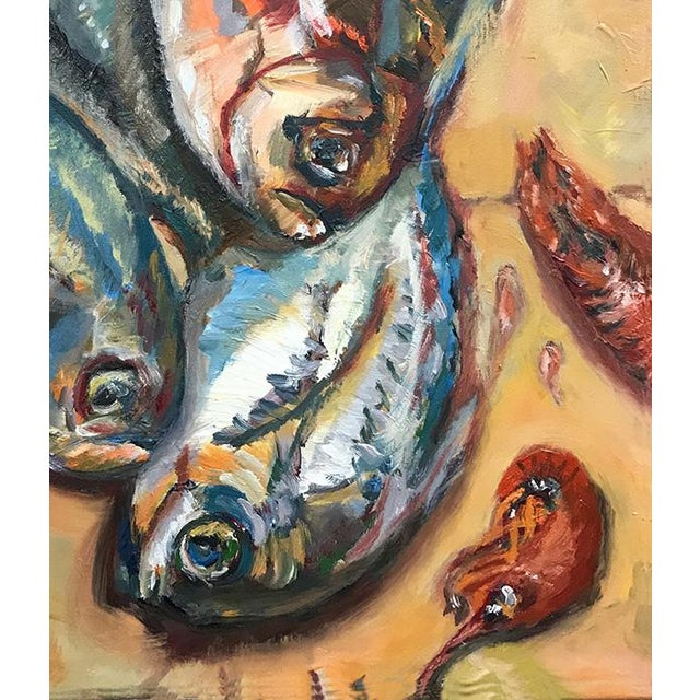 2010s Nancy T. Van Ness Crawfish Original Framed Oil Painting For Sale - Image 5 of 13