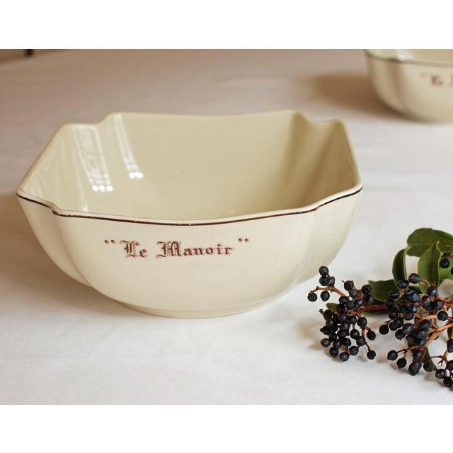 """Vintage French """"Le Manoir"""" Porcelain Serving Bowl - Image 3 of 5"""