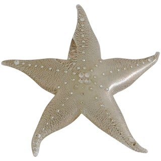 Silver Swarovski Murano Star Paperweight For Sale