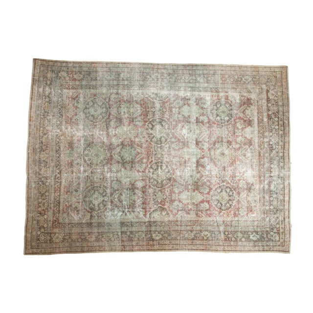 "Vintage Distressed Mahal Carpet - 10'5"" X 13'11"" For Sale - Image 13 of 13"