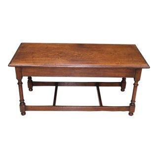 Antique English Oak Coffee Table