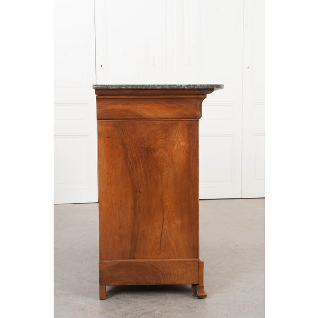 French French 19th Century Louis Philippe Walnut Commode For Sale - Image 3 of 12