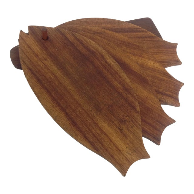 Danish Modern Teak Fish-Shaped Trays - Set of 5 For Sale
