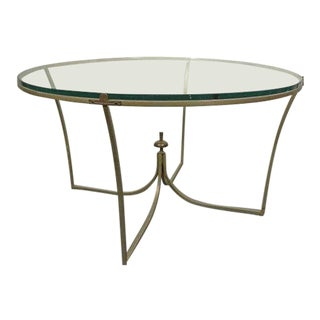 1960s Regency Glass Cocktail Coffee Table For Sale
