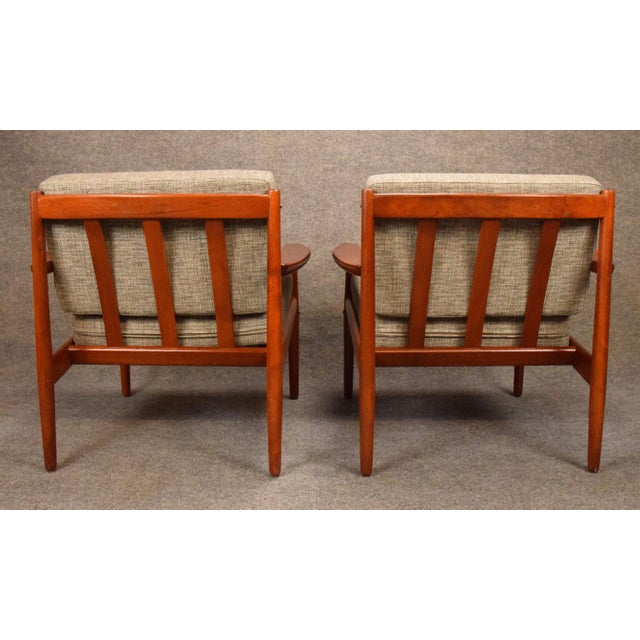 1960s 1960s Scandinavian Modern Arne Vodder Teak Lounge Chairs - a Pair For Sale - Image 5 of 11