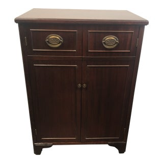 20th Century Traditional Seaburg Mahogany Record Album Cabinet For Sale