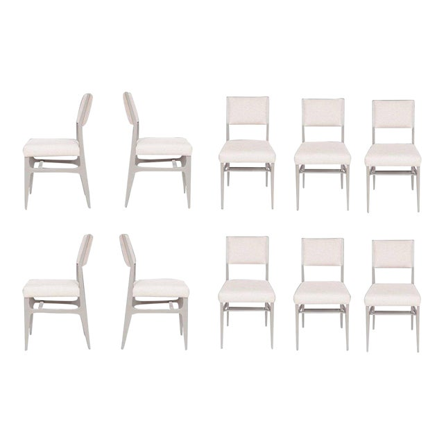 Maze Lacquered Dining Chairs - Set of 10 For Sale