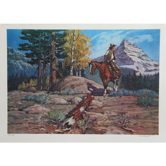 """Noel Daggett, """"A Last Look Back,"""" Lithograph - Image 1 of 2"""