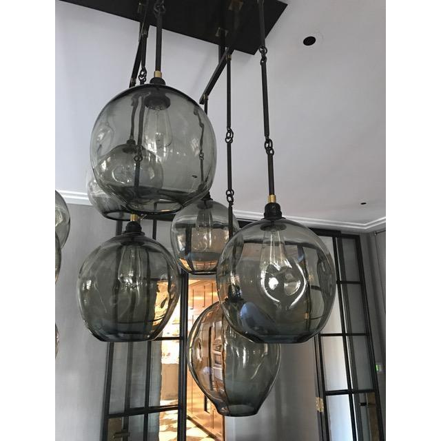 Hand Blown Glass Multi Globe Light Fixture - Image 4 of 4