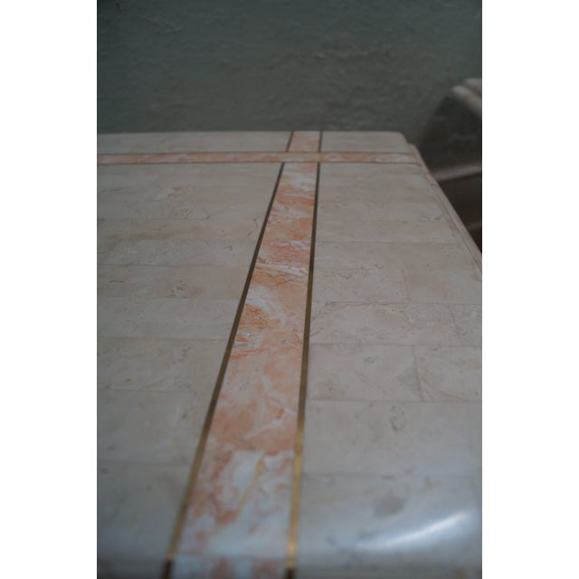 Maitland Smith Stone Marble Tables - A Pair For Sale - Image 10 of 10