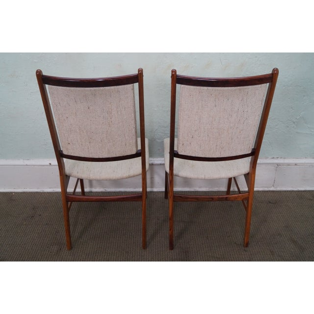 Danish Modern Rosewood Side Chairs - A Pair - Image 4 of 10