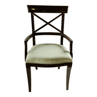 Traditional Bernhardt Beige Fabric Dining Arm Chair