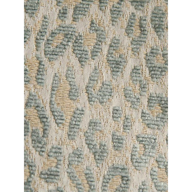 Sample, Scalamandre Leopard Cloudy Blue Fabric For Sale