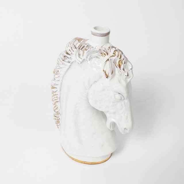 Italian Borghini White Wine Horse Head Decanter For Sale - Image 6 of 8