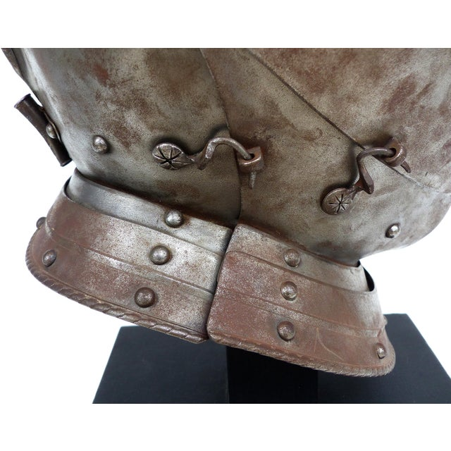 Antique Steel Jousting Presentation Helmut From Ibm Ceo Jacques Maisonrouge For Sale - Image 9 of 13