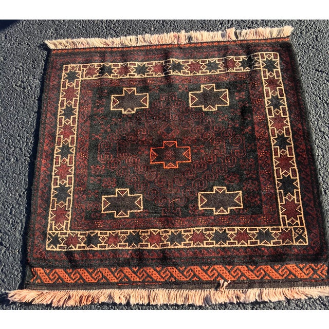 Vintage Persian Baluchi Square Rug - 3' X 3'