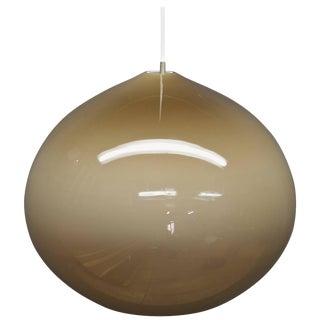 1960s Scandinavian Monumental Fading Bronze Pompei Teardrop Pendant Lamp For Sale