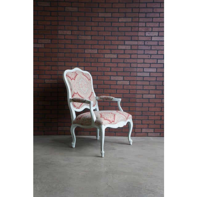 Modern Ethan Allen French Provincial Chantel Accent Chair For Sale - Image 9 of 10