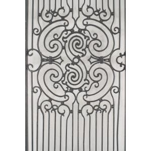 American American Victorian style (19/20th Cent) iron gates with filigree scroll design and lattice base For Sale - Image 3 of 11