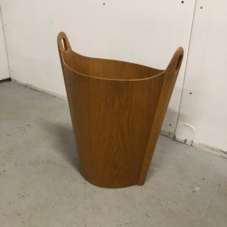 Einar Barnes p.s. Heggen Teakwood Wastebasket Trash Can Preview