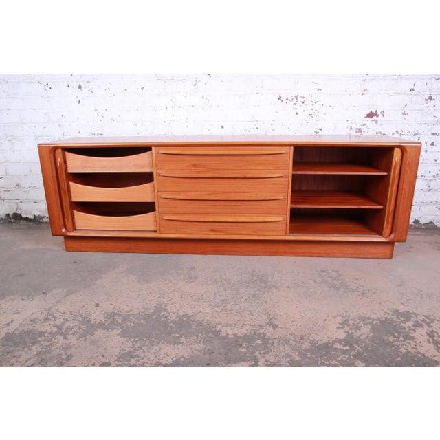 Wood Bernhard Pedersen & Son Danish Modern Teak Tambour Door Sideboard Credenza For Sale - Image 7 of 13