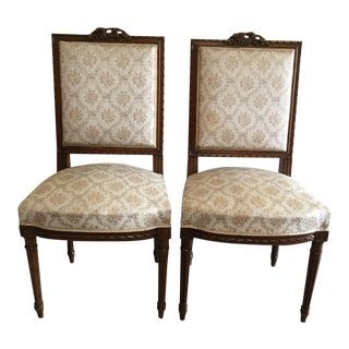 Louis XVI Style Side Chairs - A Pair For Sale