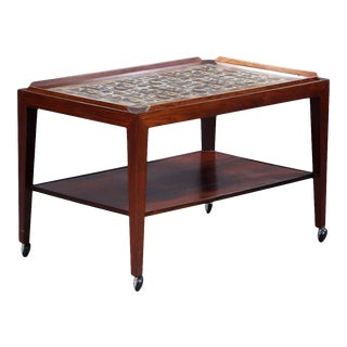 Mid-Century Modern Danish Severin Hansen Rosewood Trolly Table For Sale