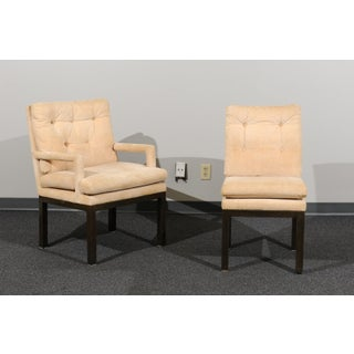 Sophisticated Set of 10 Brass Parsons Dining Chairs by John Stuart, Circa 1968 Preview