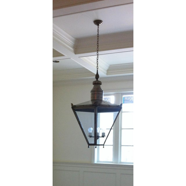 Ann Morris Groves Lantern in Oxidized Brushed Nickel Finish For Sale - Image 11 of 13