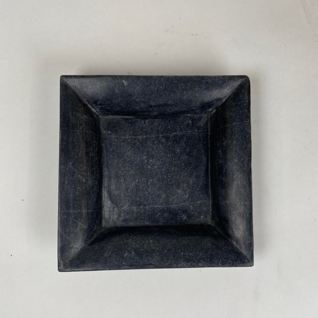 2000 - 2009 Square Hand Carved Marble Plate For Sale - Image 5 of 5