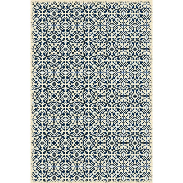 Blue & White Quad European Design Rug - 4' X 6' - Image 2 of 3