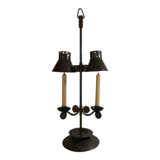 Vintage Iron Candle Holder For Sale
