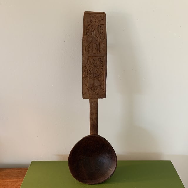 Hand Carved Peruvian Wooden Spoon For Sale In Minneapolis - Image 6 of 6