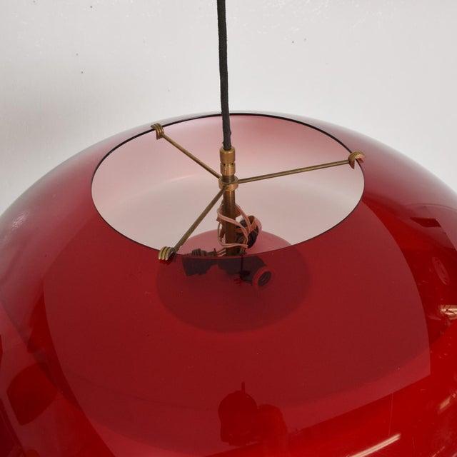 Mid-Century Modern Mid-Century Italian Modern Pendant Light Fixture by Stilux, Italy Chandelier For Sale - Image 3 of 7