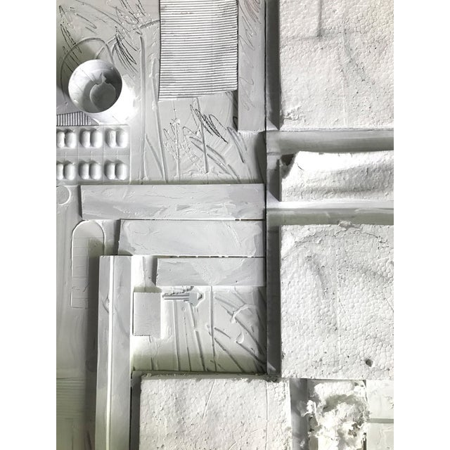 White Large Contemporary Mixed Media Painting VII by William McLure For Sale - Image 8 of 9