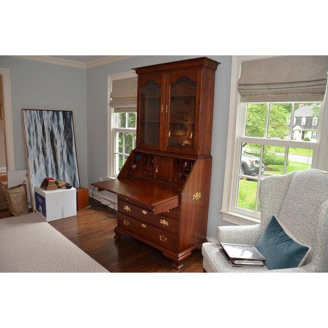 Traditional Henkel Harris John Hancock Secretary Desk For Sale - Image 3 of 10
