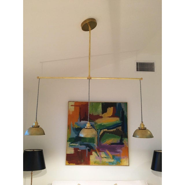 Not Yet Made - Made To Order Brass 3-Light Pendant Light For Sale - Image 5 of 11