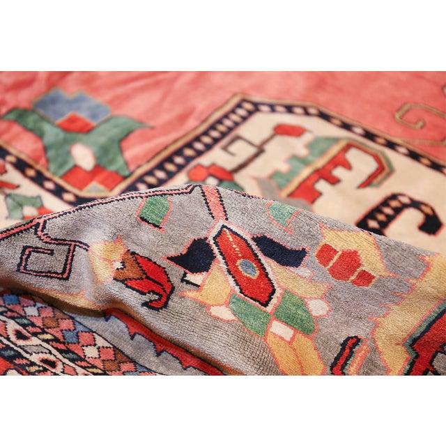 Beautiful large size luxurious vintage Persian silk Heriz rug, country of origin / rug type: Vintage Persian rug, date:...