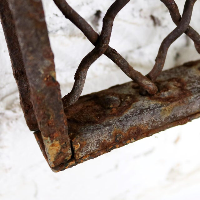 Antique Primitive Industrial Woven Wire Window Security Guard For Sale - Image 11 of 13