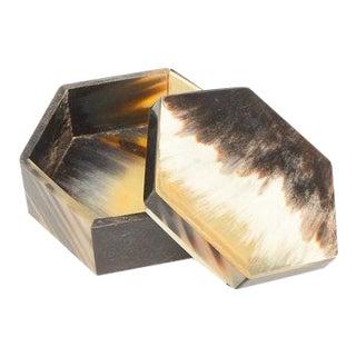 Hexagonal Horn Trinket Box